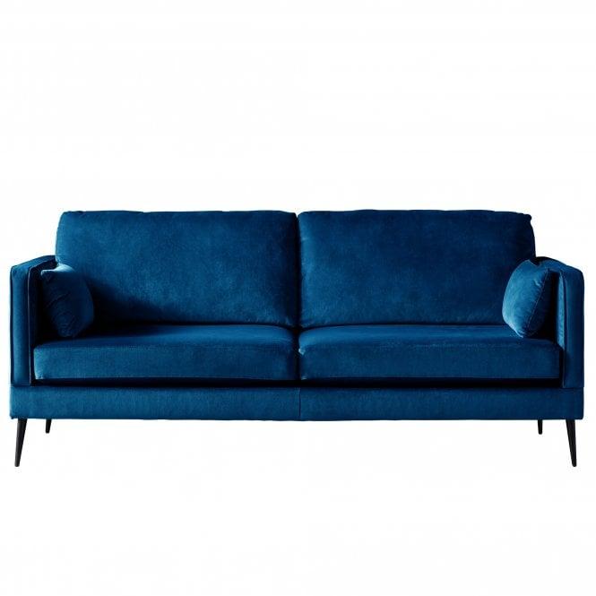 Darwin 3 Seater Sofa, Malta Navy Velvet