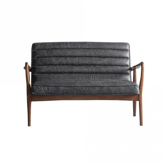Datsun Sofa, Antique Black Leather