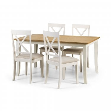 Davenport Dining Set Of 4, Ivory