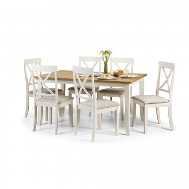 Davenport Dining Set Of 6, Ivory