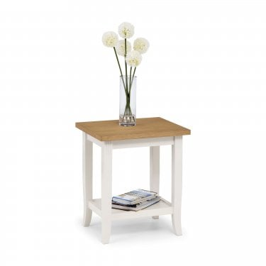 Davenport Ivory & Oak End Table