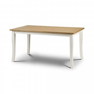 Davenport Ivory & Oak Extending Dining Table