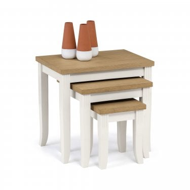Davenport Ivory & Oak Nest of Tables