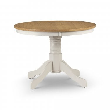 Davenport Ivory & Oak Round Dining Table