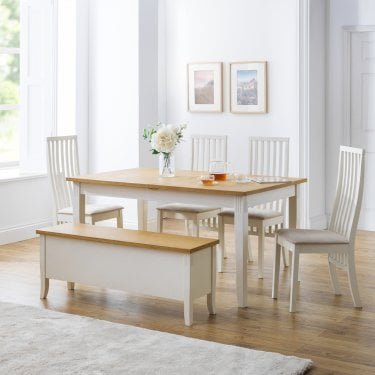 Davenport Vermont Dining Set Of 4, Ivory