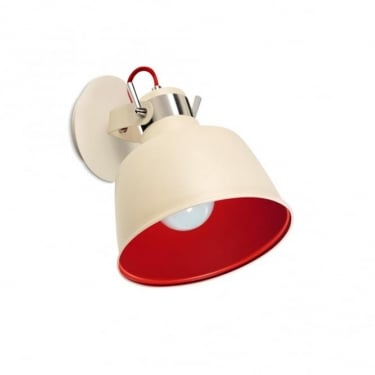 LEDS C4 Decorative Vintage Off-White & Red Pendant Light (00-0240-21-16)