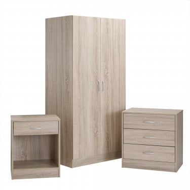 Delta Light Oak Bedroom Set