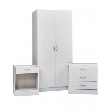 Delta White Veneer Bedroom Set