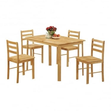Derby Dining Set, Oak