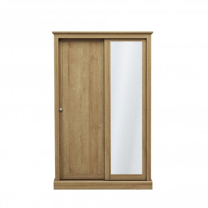 Devon 2 Door Sliding Wardrobe, Oak