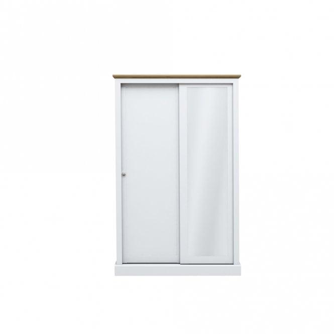 Devon 2 Door Sliding Wardrobe, White