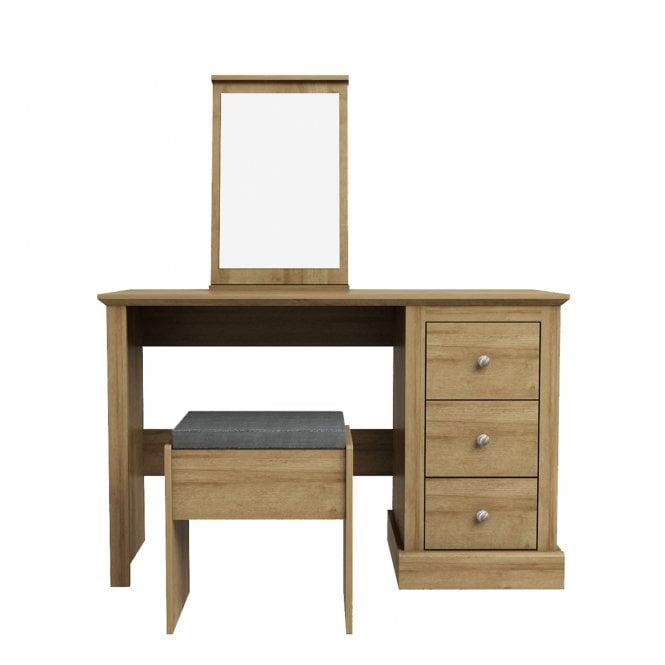Devon 3 Drawer Dressing Table Set, Oak