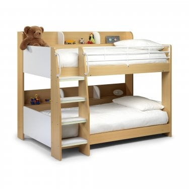 Domino Maple & White Single Bunk Bed