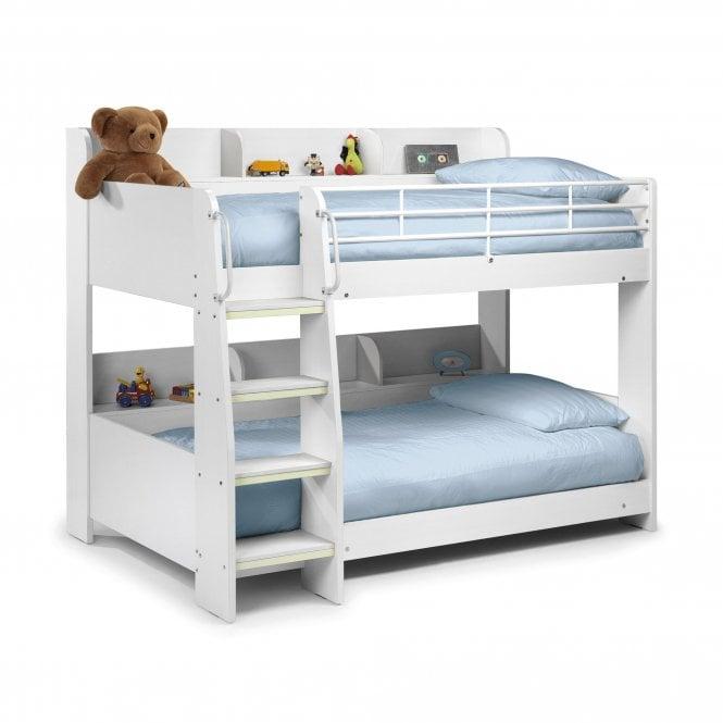 Domino Single (3'0'') Bunk Bed, White