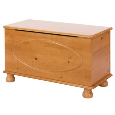 Dovedale Antique Honey Tinted Lacquer Pine Ottoman