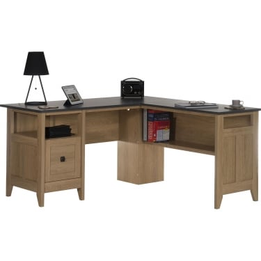 Dover Oak L-Shaped Desk