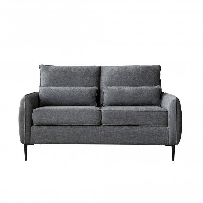 Dura 2 Seater Sofa, Manhattan Charcoal Velvet