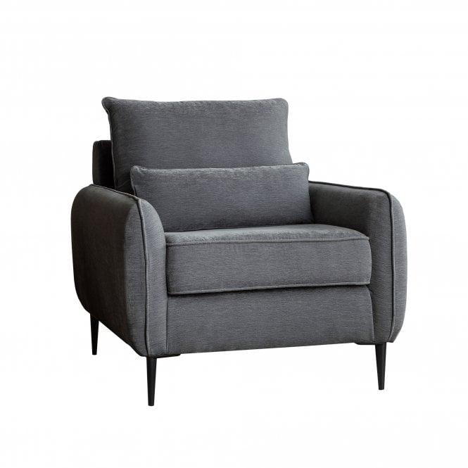 Dura Armchair, Manhattan Charcoal Velvet