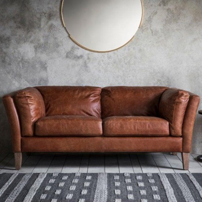 Ebury 2 Seater Sofa, Mellow Brown Leather