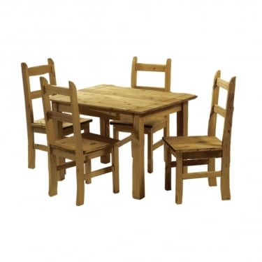 Ecuador Antique Pine Dining Set