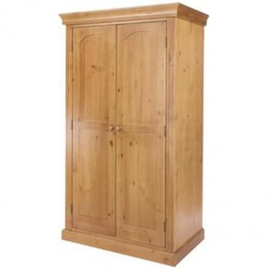 Edwardian Golden Antique Pine 2 Door Wardrobe