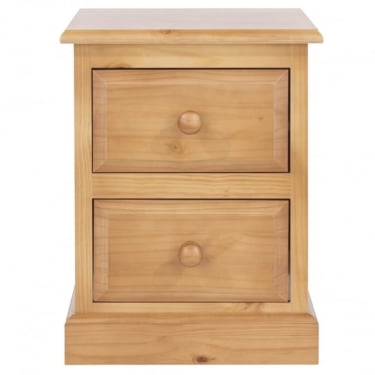 Edwardian Golden Antique Pine 2 Drawer Bedside Cabinet