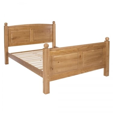 Edwardian Golden Antique Pine 4'6 Bed