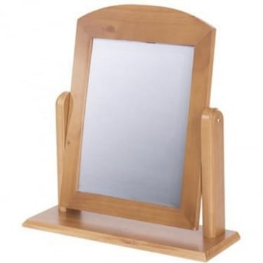 Edwardian Golden Antique Pine Mirror