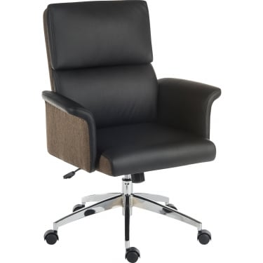 Elegance Black Executive Chair with Chrome Base