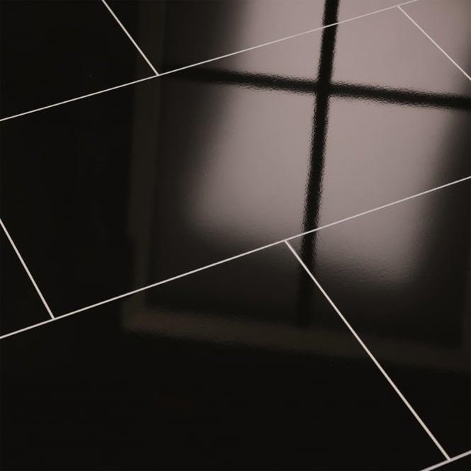 Elesgo supergloss black maxi v5 micro groove laminate for Black laminate flooring