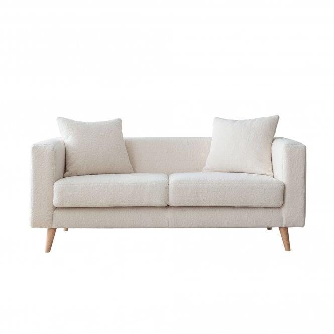 Ellenor 2 Seater Sofa, Ivory White Boucle