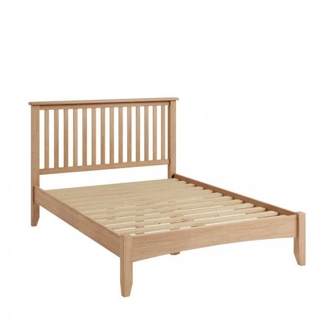 Ellie Kingsize (5'0'') Low End Bed, Light Oak