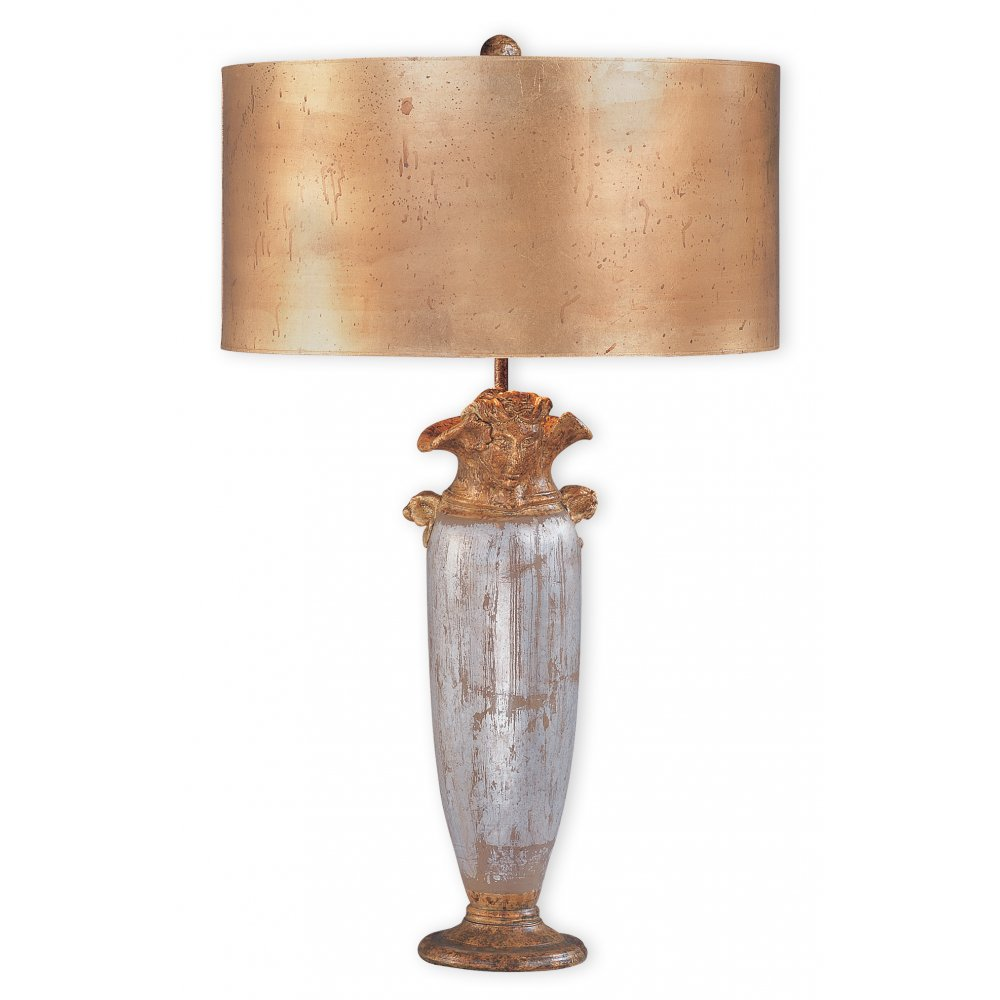 Silver Table Lamps : ... Lighting › Elstead Lighting Flambeau Bienville Gold And Silver Table