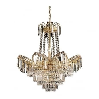 Endon Lighting Adagio Gold Warm White 9Lt Chandelier Light