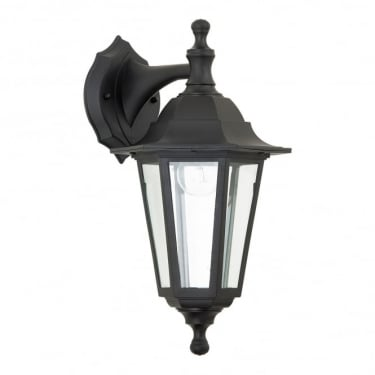 Endon Lighting Bayswater Black 1Lt Outdoor Non-Automatic Wall Light with Clear Glass (EL-40045)