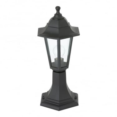 Endon Lighting Bayswater Black 1Lt Outdoor Post Floor Light with Clear Glass (EL-40046)