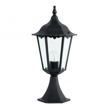 Endon Lighting Burford Matt Black 1Lt Outdoor Post Floor Light with Clear Glass (YG-3006)