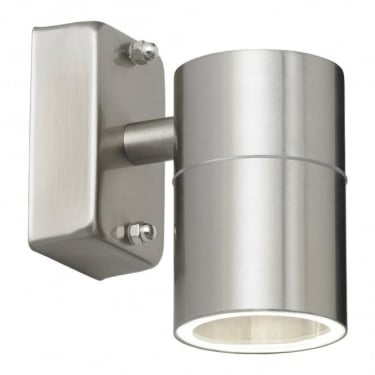 Endon Lighting Canon Polished Stainless Steel 1Lt Outdoor Non-Automatic Wall Light with Clear Glass (EL-40094)