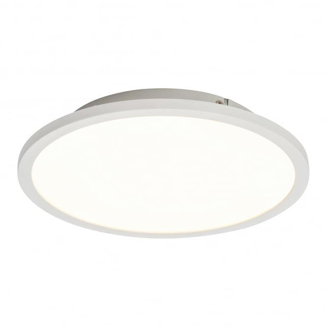 Endon Lighting Ceres Gloss White 1Lt Indoor Flush Ceiling Light (G9446005)