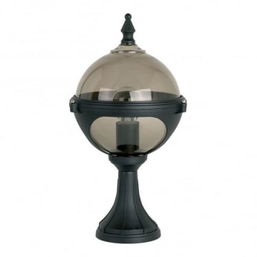 Endon Lighting Chatsworth Matt Black 1Lt Outdoor Post Floor Light with Smoked Plastic (YG-8002)