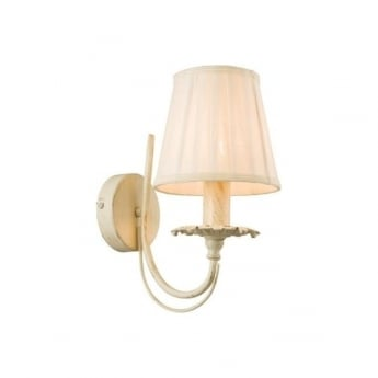 Endon Lighting Chester Cream and Gold Warm White 1Lt Wall Light