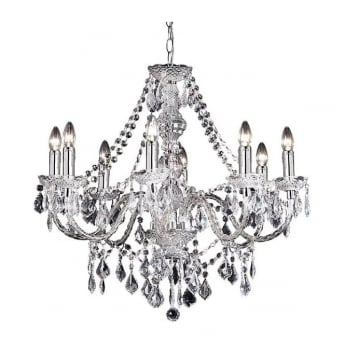 Endon Lighting Clarence Chrome Warm White 8Lt Chandelier Light