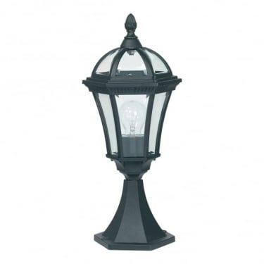 Endon Lighting Drayton Matt Black 1Lt Outdoor Post Floor Light with Clear Glass (YG-3502)