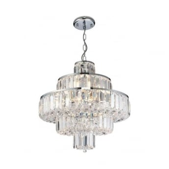 Endon Lighting Banderas 10Lt Chrome 40W Multi-Arm Pendant Light (62184)