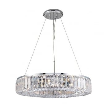 Endon Lighting Banderas 8Lt Chrome 40W Multi-Arm Pendant Light (61151)