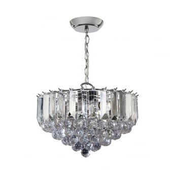 Endon Lighting Fargo 3Lt Chrome 60W Single Pendant Light (FARGO-14CH)