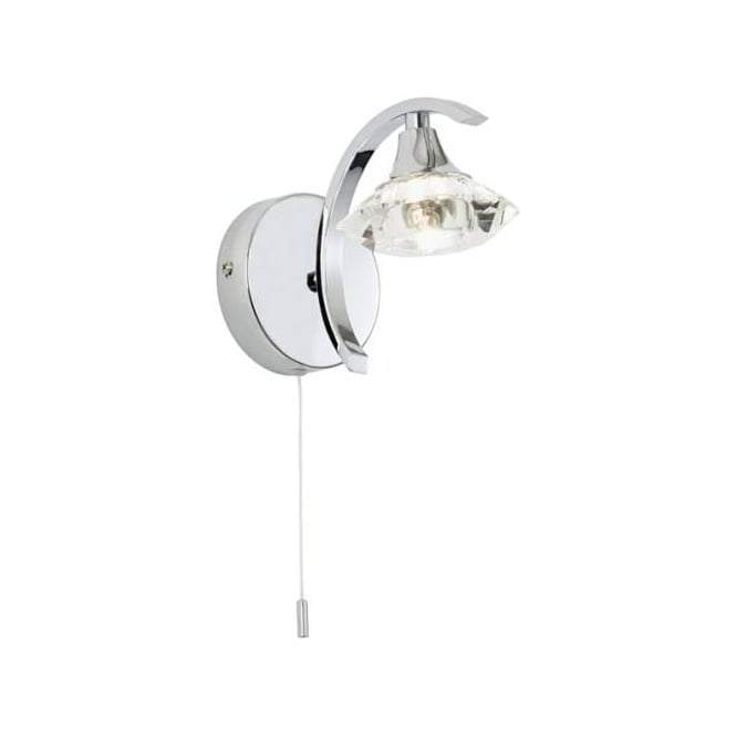 Endon Lighting Langella 1Lt Chrome 33W Wall Light (LANGELLA-1WBCH)