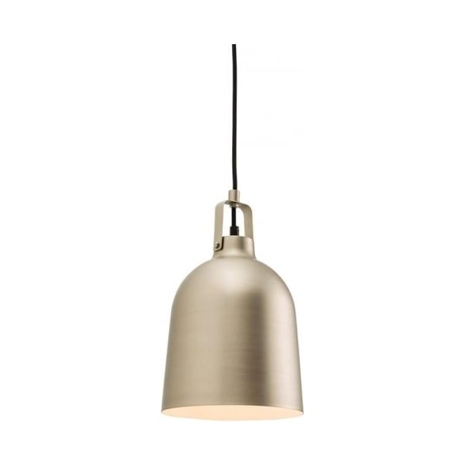 Endon Lighting Lazenby 1Lt Matt Nickel 60W Single Pendant Light (61308)