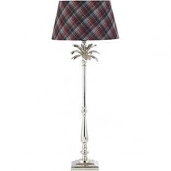 Endon Lighting Leaf 1Lt Polished Nickel Plate 60W 785mm Table Light (EH-LEAF-TL-L)