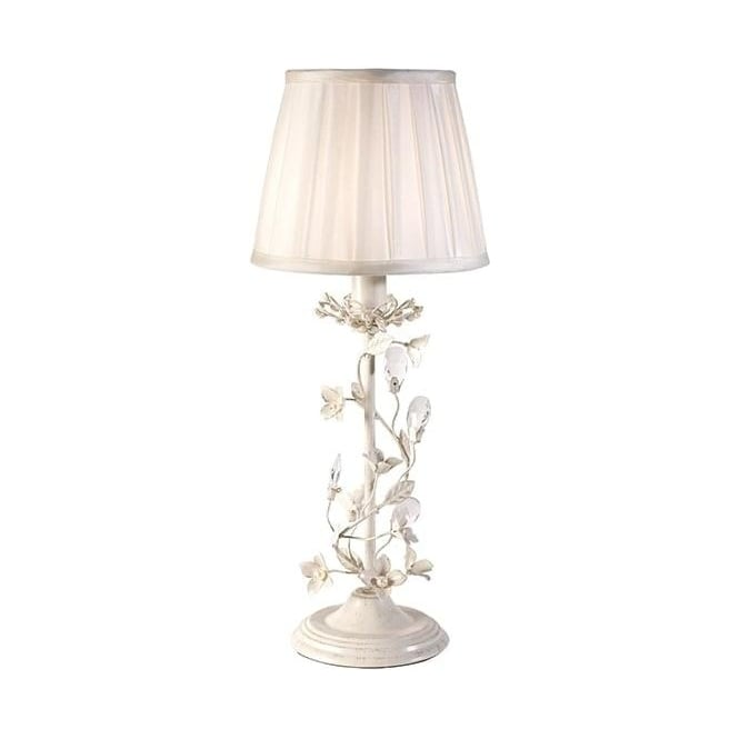 Endon Lighting Lullaby 1Lt Cream Brushed Gold & Cream Fabric 40W Table Light (LULLABY-TLCR)